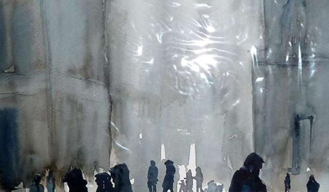 Giusy Vecchi inaugura la sua mostra di pittura