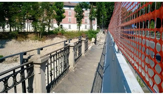 Alluvione: un anno per riparare il ponte dei Carrettieri
