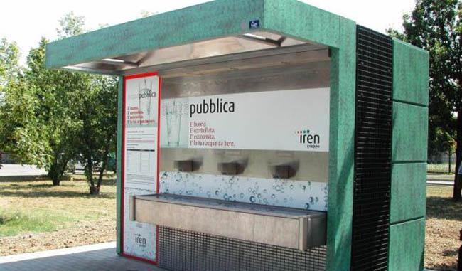 Sospesa erogazione acqua distributore Bizzozero