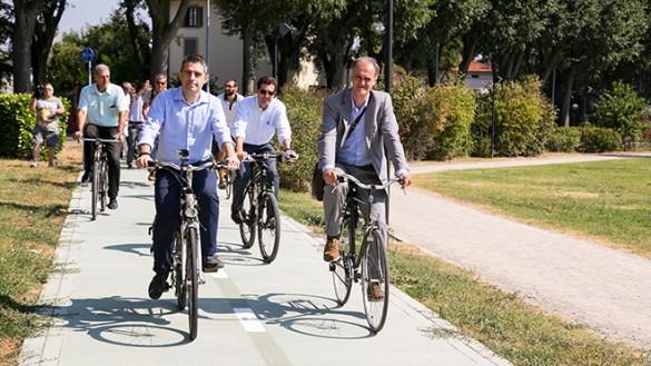 Montanara, inaugurata la nuova pista ciclabile