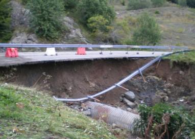 Val Ceno colpita da forti piogge nei giorni passati