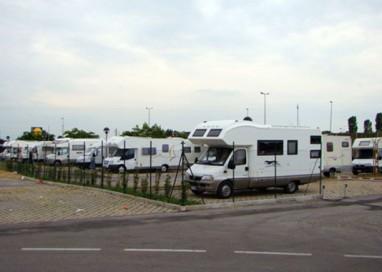 Primo bilancio per l'area di sosta dei camper
