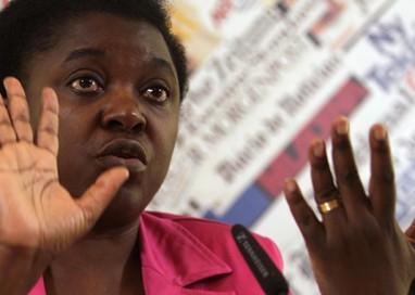 L'eurodeputata PD Cécile Kyenge a Parma