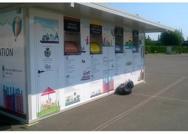 Ecostation, sole e tristi: 8 conferimenti al giorno