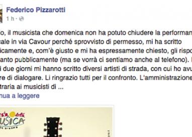 Il Sindaco risponde a Valerio, il musicista di via Cavour