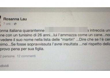"""Consigliera M5S: """"Donna uccisa a Parma? Se lo merita"""""""