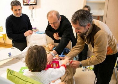 Vescovo e sindaco all'Ospedale dei Bambini