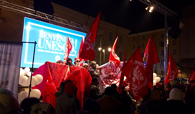Festa Unesco interrotta da protesta anti sfratti