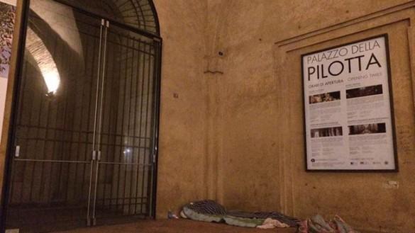 PD: i senzatetto e la Pilotta