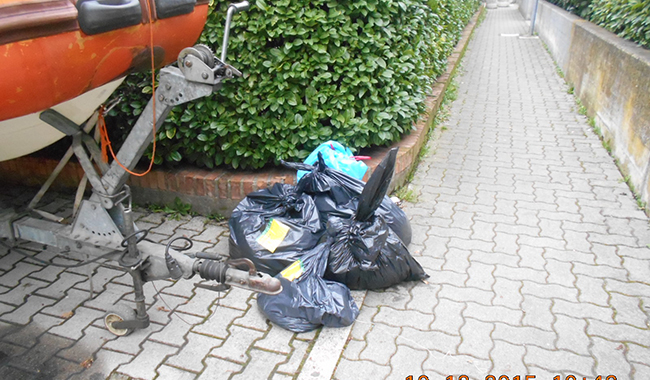 Controllo rifiuti. 2 sanzioni in quartiere Lubiana