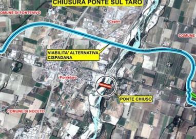 Ponte sul Taro. Prove di carico: chiusura domenica 28 febbraio