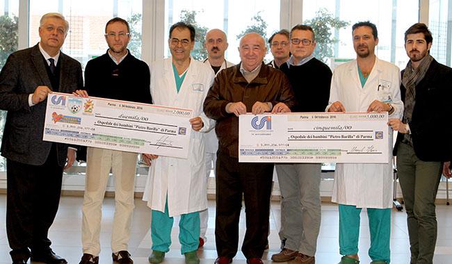 Dal calcio 7mila euro per l'Ospedale dei Bambini