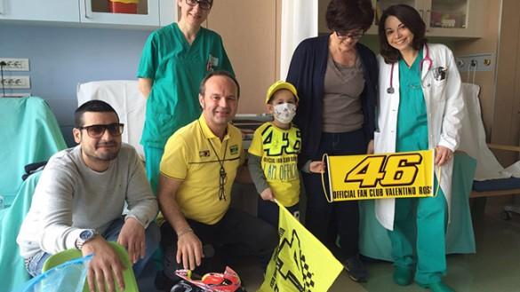 """""""Valentino Rossi"""" all'Ospedale dei Bambini"""