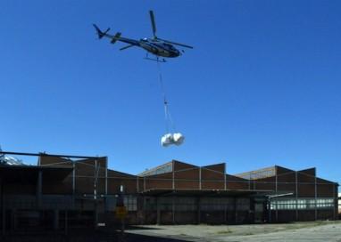 Ex Star di Corcagnano: tolto l'amianto con un elicottero