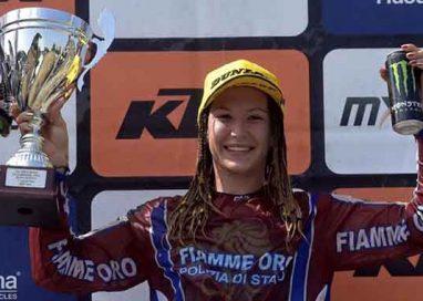 Kiara Fontanesi sul gradino più alto al GP di Lombardia