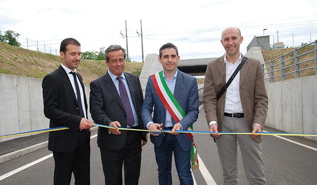 Taglio del nastro per i sottopassi di via Roma e via Bergonzi a Vicofertile