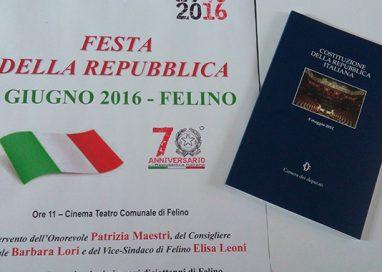 Festa della Repubblica: Costituzione in dono ai diciottenni di Felino