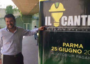 """Salvini: """"ripartiamo da Parma dove i grillini hanno fallito"""""""