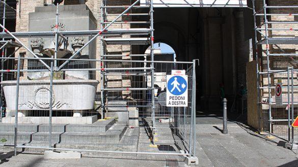 Iniziato il restauro del Municipio