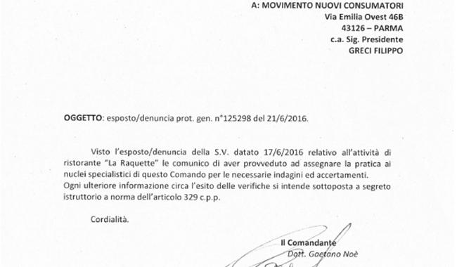 """MNC: """"aperta inchiesta sul ristorante La Raquette"""""""