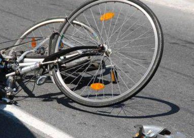 Ciclista investito in strada Quarta