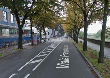Incidente in viale Basetti: motociclista in Ospedale