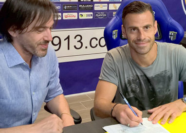 "L' ""arciere"" Emanuele Calaiò firma con il Parma Calcio"