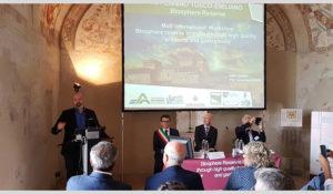 Il presidente Bonaccini durante il suo intervento