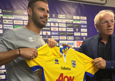 Parma Calcio. Il presidente Nevio Scala presenta Calaiò