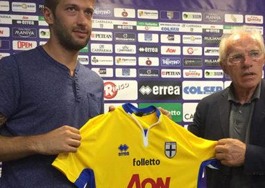 Parma Calcio. Presentato a Collecchio il nuovo difensore Michele Canini