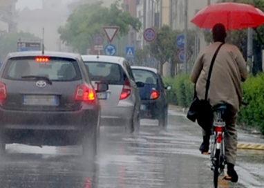 Pioggia e disagi in città. Diversi gli interventi della Municipale