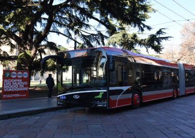 Arrivano su strada i nuovi Bus della Tep lunghi 18 metri