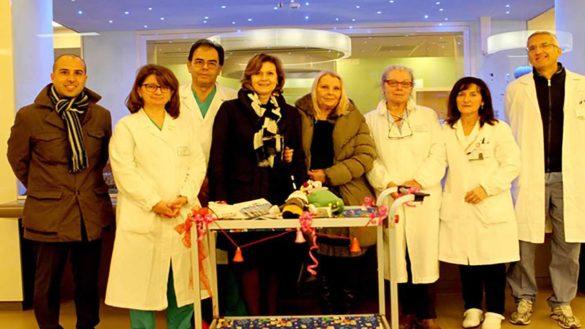 Regali in vista del Natale per l'Ospedale dei Bambini