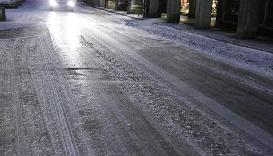Attenzione Parma! Le strade sono una lastra di ghiaccio