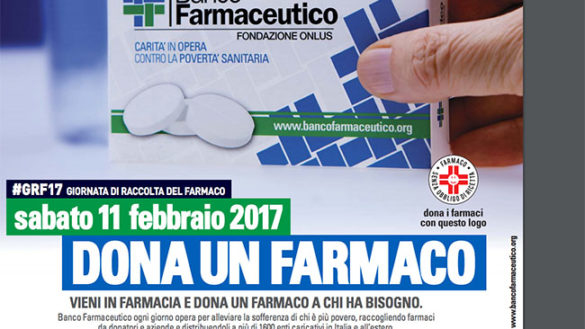 11 FEBBRAIO GIORNATA DI RACCOLTA DEL FARMACO