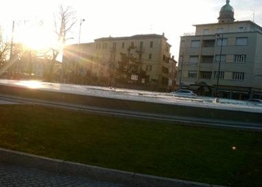 Ghiacciata la fontana di Barriera Repubblica