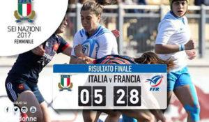 Rugby: italia-francia femminile 5-28