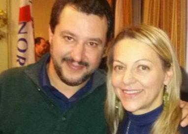 Congresso della Lega Nord a Parma, Salvini con la Cavandoli
