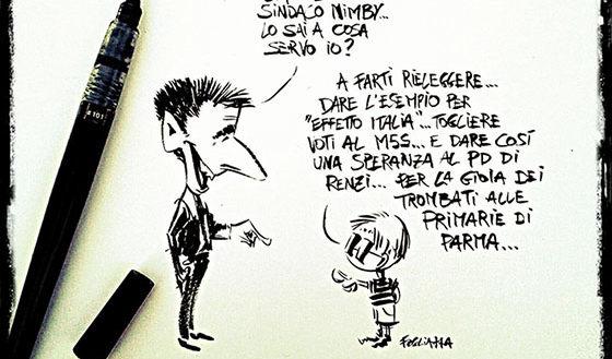 """La vignetta di Fogliazza: """"Ciao sono il sindaco, lo sai a cosa servo io?…."""""""
