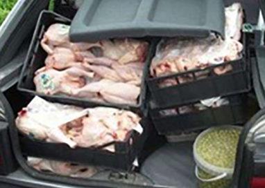 Fermato con due quintali di carne nel baule dell'auto, denunciato