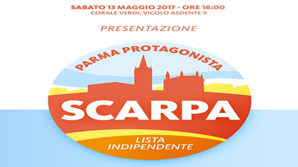 """Parma protagonista"": ecco la lista di Paolo Scarpa"