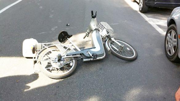 Via Mordacci: investita una bici elettrica, conducente all'Ospedale