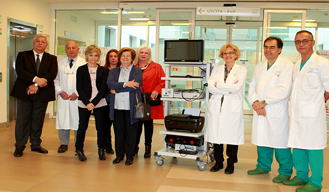 Ospedale: donata una colonna endoscopica alla Neonatologia