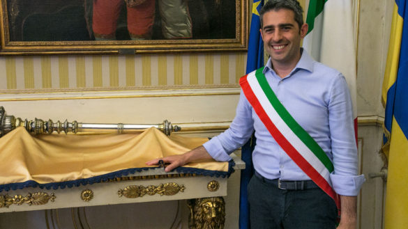 Cerimonia della fascia tricolore: Federico Pizzarotti, si è insediato