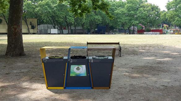 Parchi: arrivano nuovi cestini per differenziata