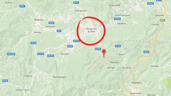 Borgotaro: scossa di terremoto di magnitudo 2.6