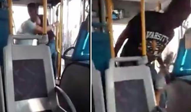 Violenta lite nel piazzale della stazione, autista malmenato sul bus Il video