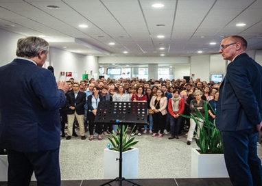Il Presidente del Parlamento europeo Tajani in visita all'EFSA