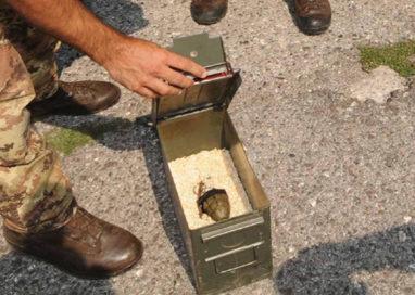 Ritrovate otto bombe a mano lungo l'Enza