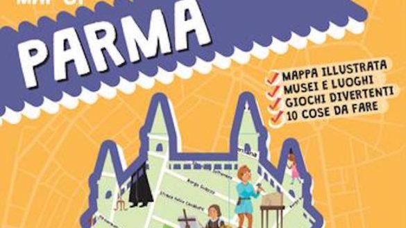 Per i bambini una mappa illustrata di Parma con stickers e giochi